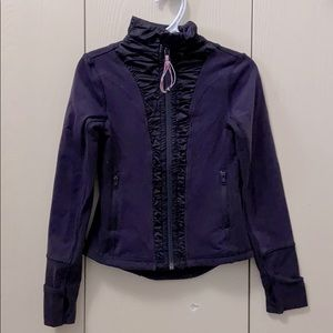 Ivivva Plum Jacket/Sweater with Satiny Rouching